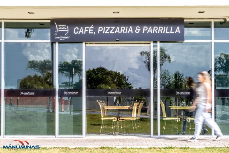 Porta automática restaurante