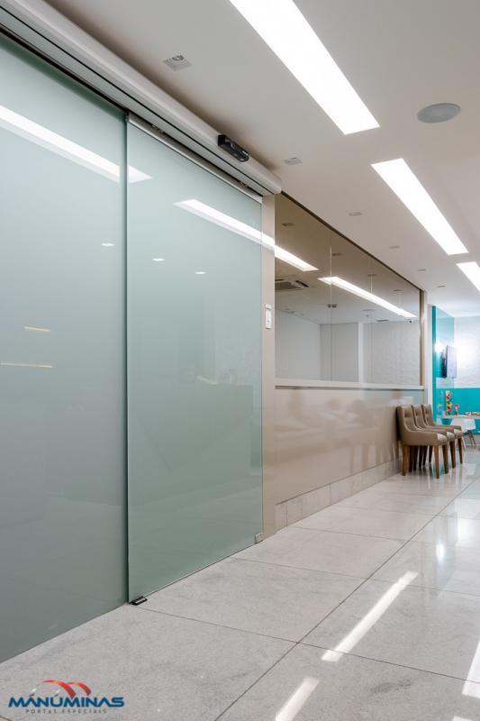 Porta automática vidro temperado
