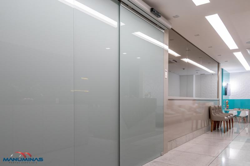 Porta de vidro automática de correr