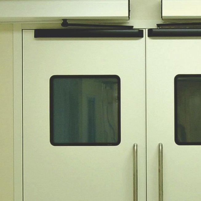 Porta automática de batente